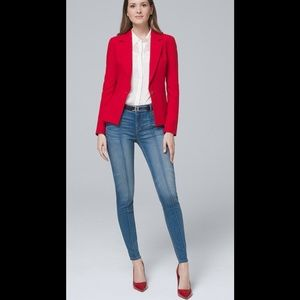WHBM mid rise denim jeans. Great with anything!